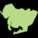 愛知県の地図画像